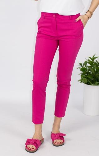 c4991ecf2bbc7c Eleganckie spodnie damskie BB amarantowe 7/8 - Jerodi Pink