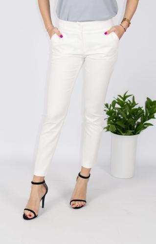 a55f897c4e0662 Eleganckie spodnie damskie BB ecru 7/8 - Isuka Pink