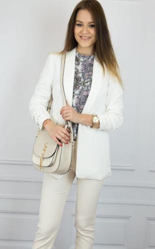 ef8c3df431d075 Eleganckie spodnie damskie 7/8 pudrowy róż W181203 Pink