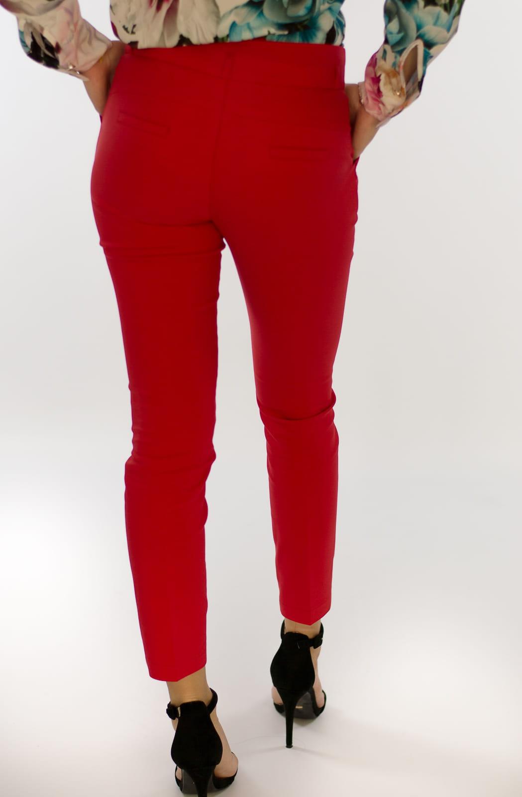 5891e03354d66e Eleganckie spodnie damskie BB czerwone 7/8 - Isuka. 27940_24651. promocja.  27940_24651; 27940_24652; 27940_24653; 27940_24654