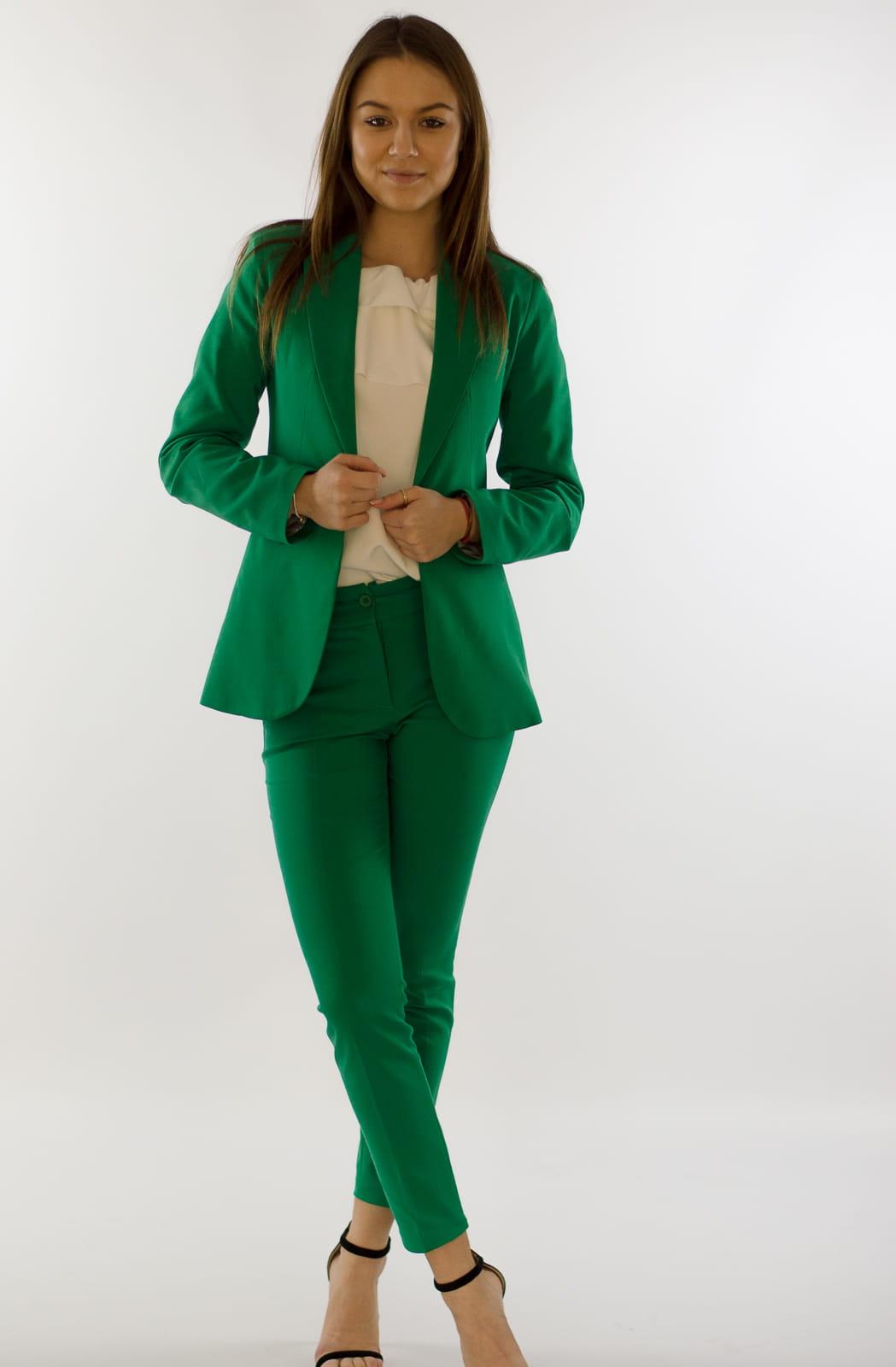 92bd8eb02057f8 Eleganckie spodnie damskie BB zielone 7/8 - Isuka. 27946_24655. promocja.  27946_24655; 27946_24656; 27946_24657; 27946_24658; 27946_24659