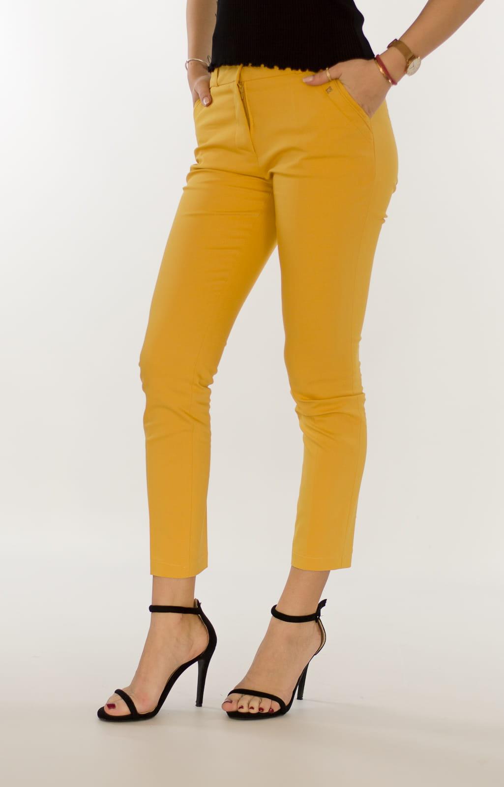 d212437cdc9642 Eleganckie spodnie damskie BB żółte 7/8 - Isuka. 27958_24665. promocja.  27958_24665; 27958_24666; 27958_24667; 27958_24668