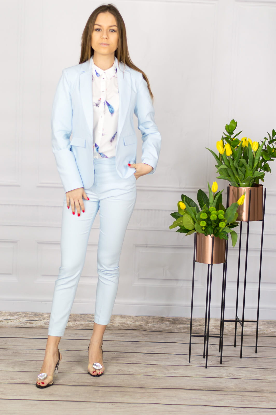 fb781273aa9f3e Eleganckie spodnie damskie BB niebieskie 7/8 - Isuka. 28663_25514.  promocja. 28663_25514; 28663_25515; 28663_25516; 28663_25517; 28663_25518