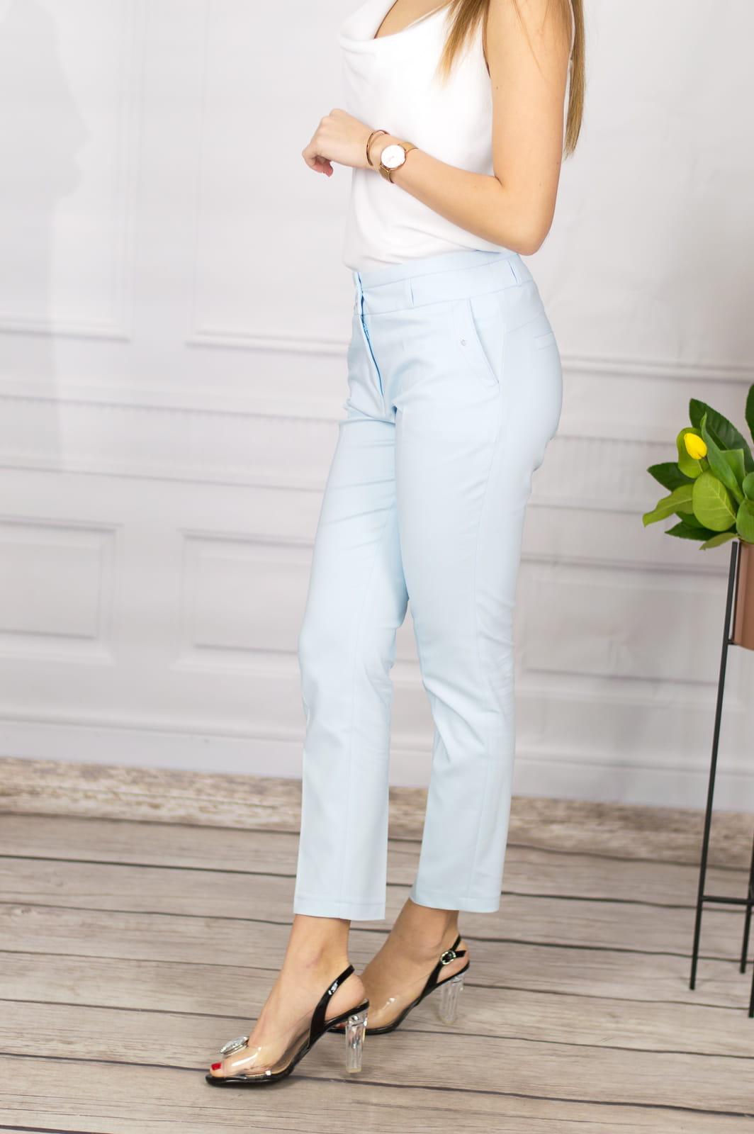053fee05c0e55a Eleganckie spodnie damskie BB niebieskie 7/8 - Jerodi. 28670_25519.  promocja. 28670_25519; 28670_25520; 28670_25521; 28670_25522